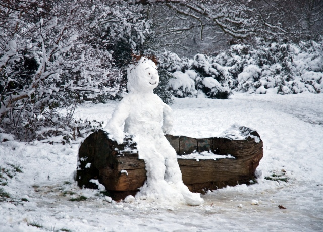 """I came across the snowman whilst walking in Hollow Ponds during the snows of February."", Andy McQueen"